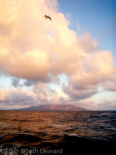 Ascension Island dawn landfall