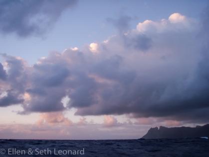 Landfall on St Helena Island, South Atlantic