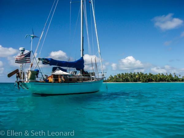 Anchored in Rangiroa atoll