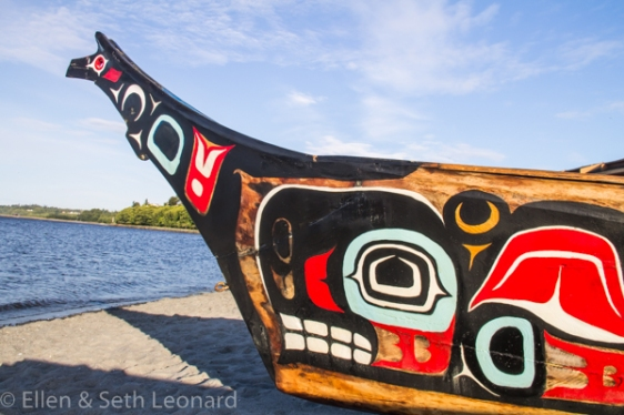 Klallam canoe, Port Angeles