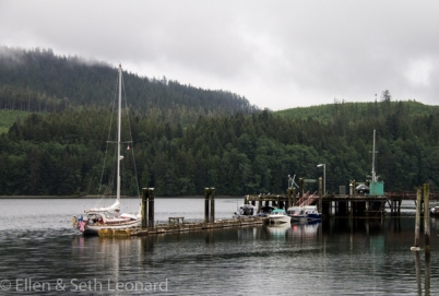 Celeste in Winter Harbor, Vancouver Island