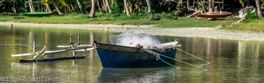 Fishing outrigger canoes