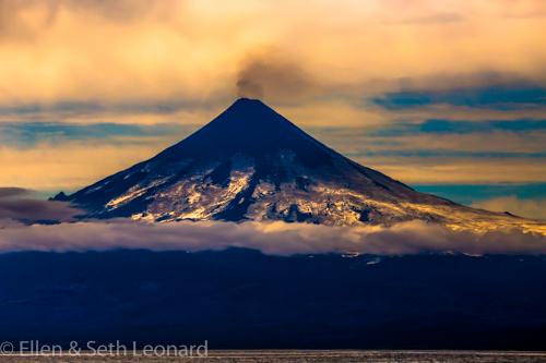 Mt Shishaldin puffs ash