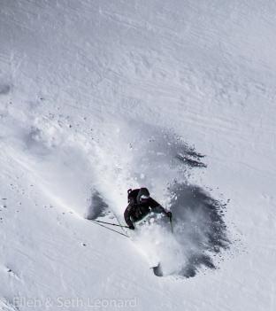 Seth skiing
