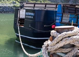 Fishing boats tied up near Celeste