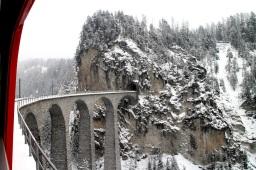 Landwasser Viaduct, train to Engadin