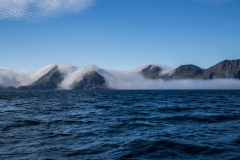 Fog shrouds the Aleutians