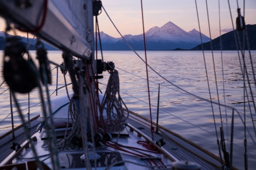 Approaching Pavlov Volcano, Alaska Peninsula
