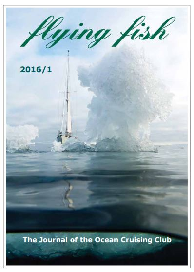 Celeste in sea-ice on the cover of Flying Fish