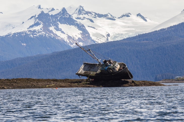 Ill-fated fishing boat in Wrangell Narrows