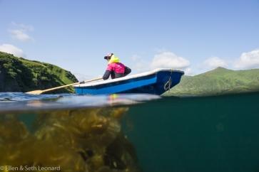 Kelp and dinghy