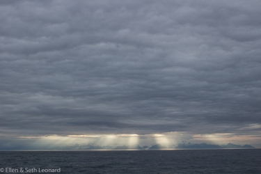 Sunset over AK Peninsula