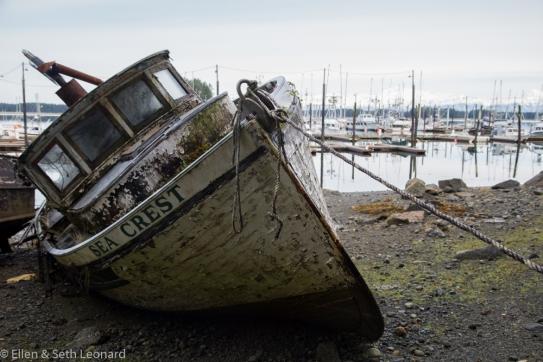 Derelict fishing boat