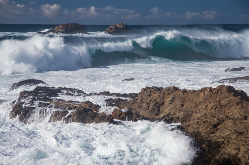 High surf on the Big Sur coast