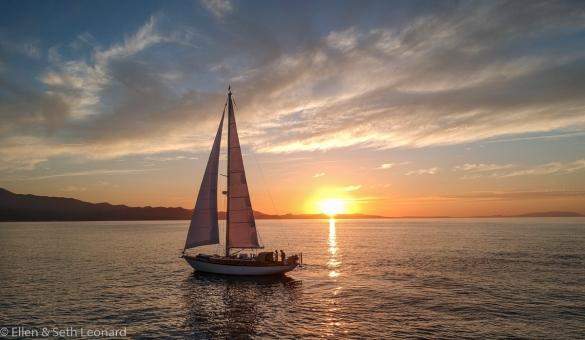 Sunset off Baja