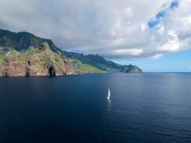 Sailing in the Marquesas