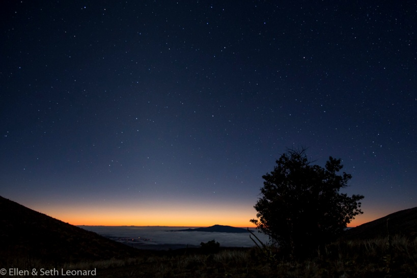 Stars coming out over Hualalai